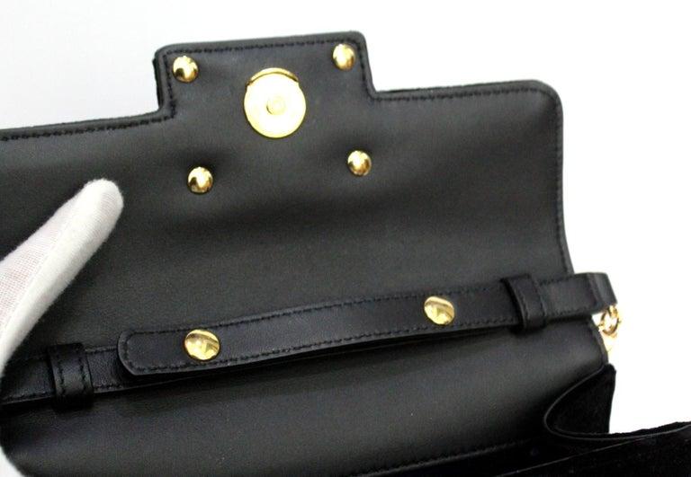 Gucci Square G Bag In Black Velvet  For Sale 1