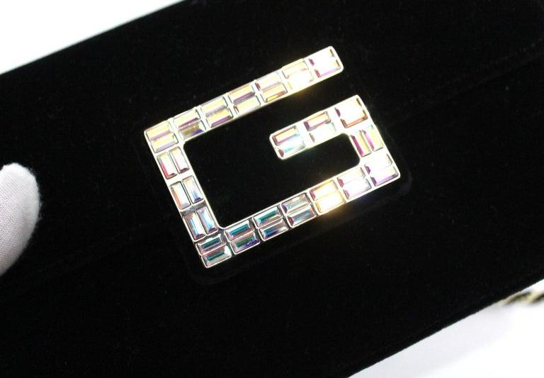 Gucci Square G Bag In Black Velvet  For Sale 3