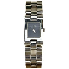 Gucci Stainless Steel Mod 2305 L Wrist Watch Black Dial