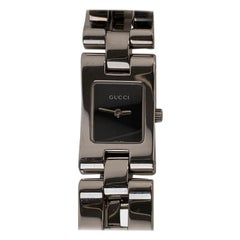 Gucci Stainless Steel Mod 2305L Wrist Watch Black Dial