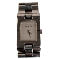 Gucci Stainless Steel Mod 2305L Wrist Watch White Dial