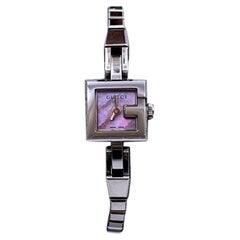 Gucci Stainless Steel Women G Wrist Watch 102 Pink Dial