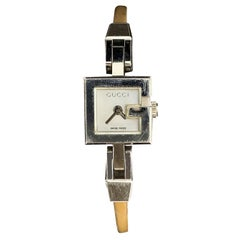 Gucci Stainless Steel Women G Wrist Watch 102 White Dial