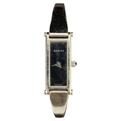 Gucci Stainless Steel Women Wrist Watch Mod 1500 L Black Dial