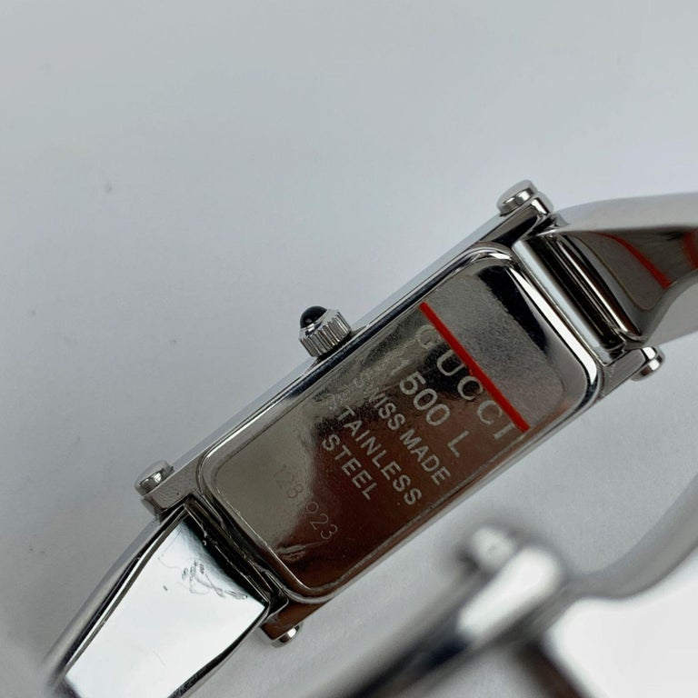 Gucci Stainless Steel Women Wrist Watch Mod 1500 L Quartz Blue Dial For Sale 1