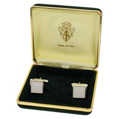 Gucci Sterling 925 Silver White and Silver Color Cufflinks