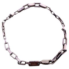 Gucci Sterling Silver 925 Rectangle Chain Link Bracelet