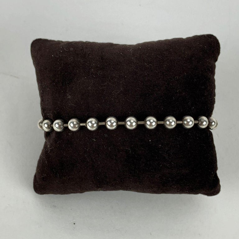 Women's Gucci Sterling Silver 925 Toggle Boule Chain Unisex Bracelet For Sale