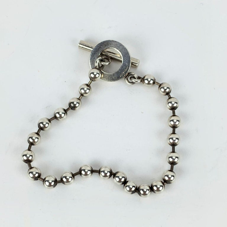 Gucci Sterling Silver 925 Toggle Boule Chain Unisex Bracelet For Sale 1