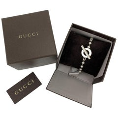 Gucci Sterling Silver 925 Toggle Boule Chain Unisex Bracelet