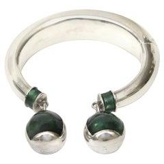 6dd18f832 Gucci Sterling Silver and Malachite Enamel Bracelet