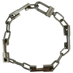 Gucci Sterling Silver Chain Unisex Bracelet