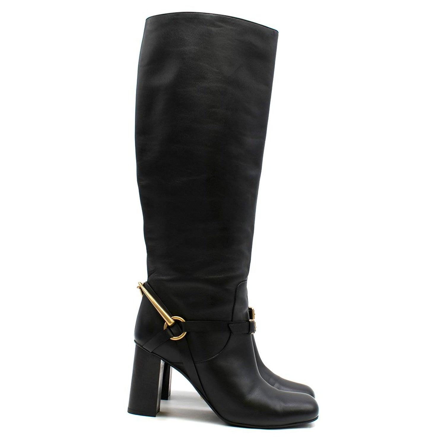 d28632761b1 Gucci stirrup-heel leather boots US 8 For Sale at 1stdibs
