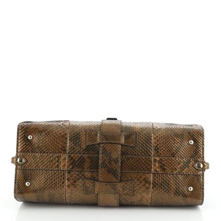 Women's or Men's Gucci Stirrup Top Handle Bag Python Large For Sale