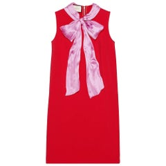 GUCCI Stretch Red Dress with Bow - Large