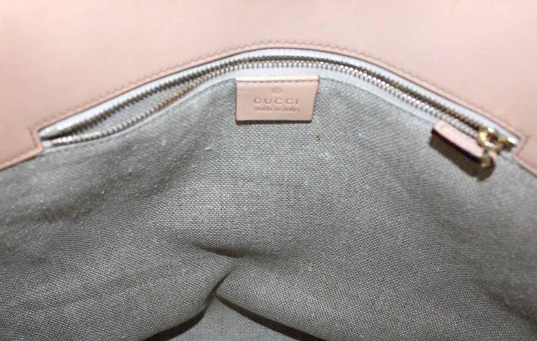 Gucci Striped Baiadera Canvas & Leather Bamboo Handbag Bag Tote For Sale 1