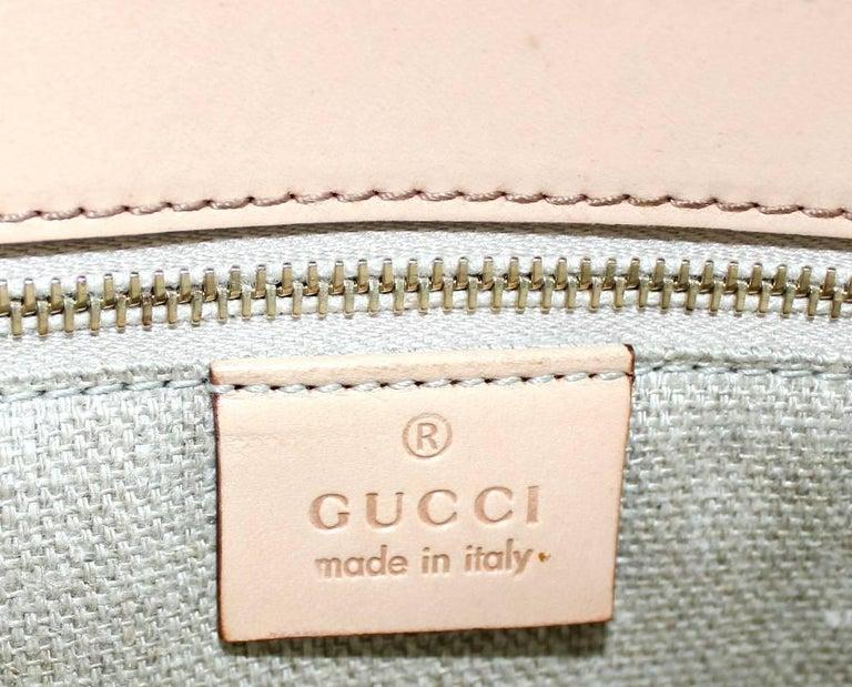 Gucci Striped Baiadera Canvas & Leather Bamboo Handbag Bag Tote For Sale 2