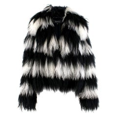 Gucci Striped Shearling & Goat Hair Jacket IT 40