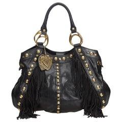 Gucci Studded Leather Babouska Fringe Satchel