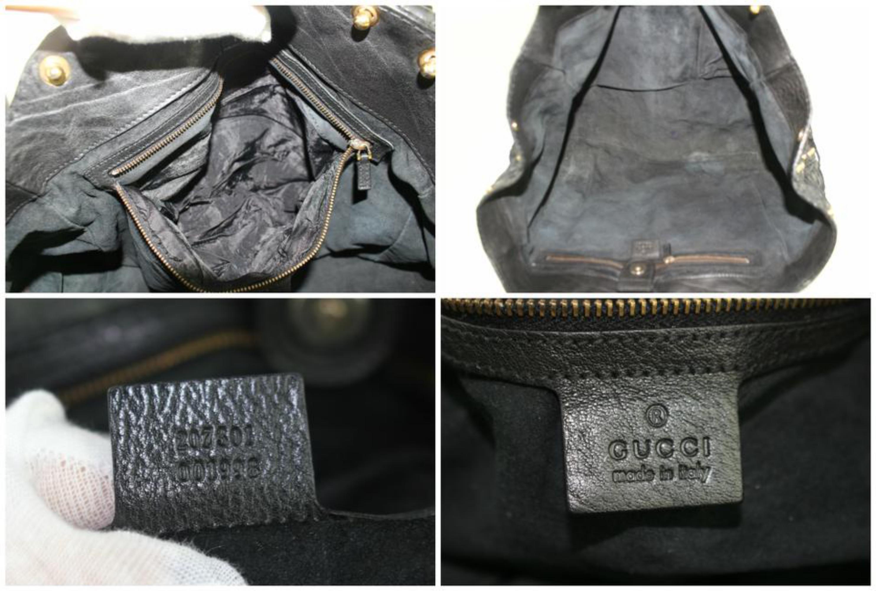 1cd6d9cef4af Gucci Suede Fringe Large Tote 5gz0911 Black Python Skin Leather Shoulder Bag  For Sale at 1stdibs