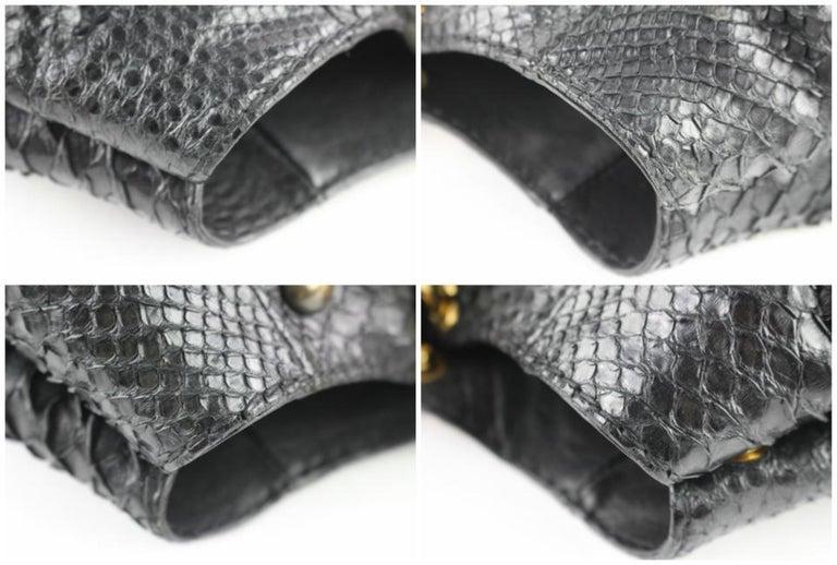 a9660c12e0eb Gucci Suede Fringe Large Tote 5gz0911 Black Python Skin Leather Shoulder Bag  For Sale 5
