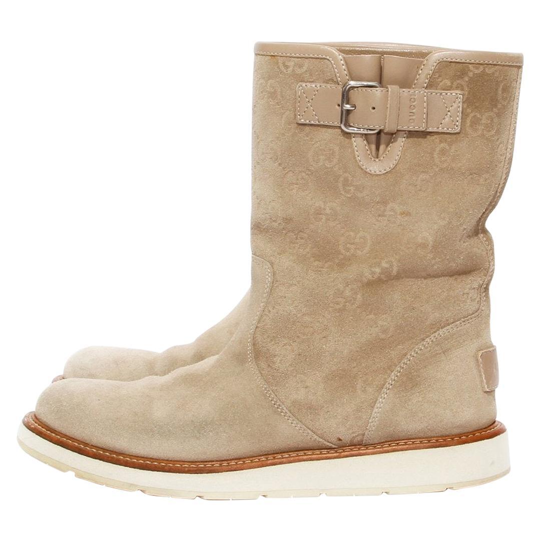 "Gucci Suede ""GG"" Monogram Boot"