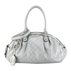Gucci Sukey Convertible Boston Bag Guccissima Leather