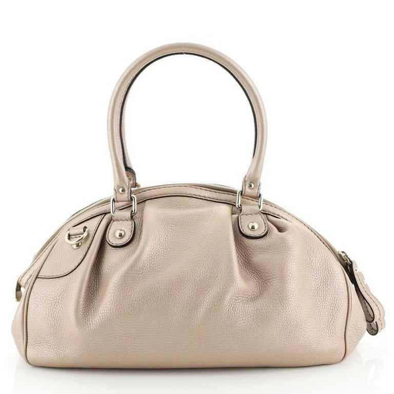 Gucci Sukey Convertible Boston Bag Leather Medium In Good Condition For Sale In New York, NY