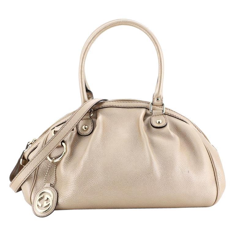 Gucci Sukey Convertible Boston Bag Leather Medium For Sale