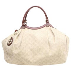 f503ce51f8d Gucci Sukey Diamante Monogram Hobo 869791 Beiges Canvas Shoulder Bag