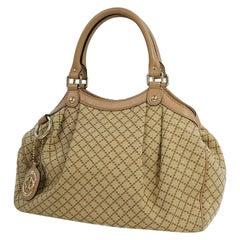 GUCCI Sukey Diamante Womens handbag 211944 320981 beige x beige pink