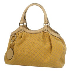 GUCCI Sukey Diamante Womens handbag 211944 beige x yellow
