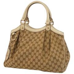GUCCI Sukey handbag Womens handbag 211944 beige x gray