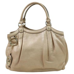 Gucci Sukey Hobo 870327 Beige Leather Satchel
