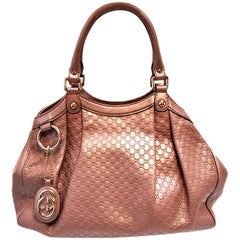 Gucci Sukey Pink Microguccissima Tote Handbag