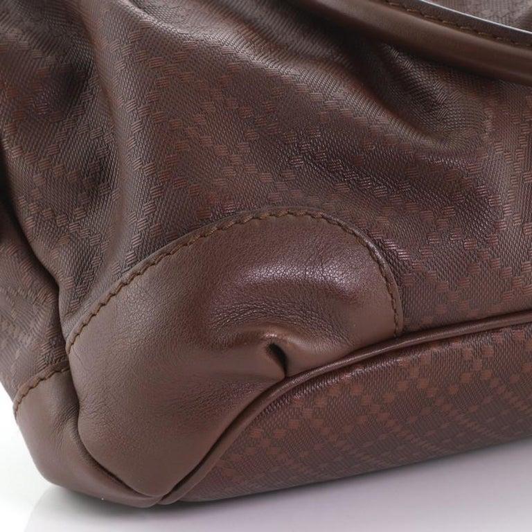 Gucci Sukey Top Handle Satchel Diamante Leather Medium For Sale 1