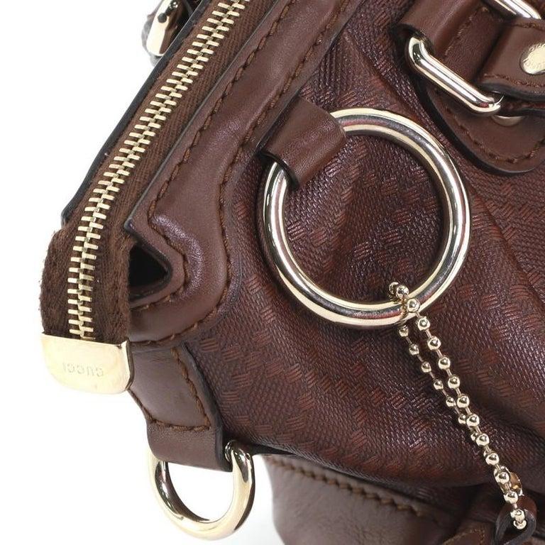 Gucci Sukey Top Handle Satchel Diamante Leather Medium For Sale 3