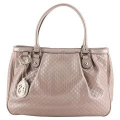 Gucci Sukey Top Handle Tote Guccissima Leather Medium