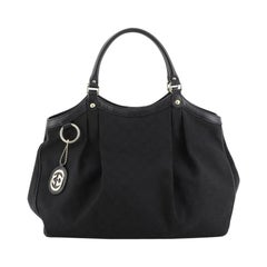 Gucci Sukey Tote GG Canvas Large, crafted from black GG canvas