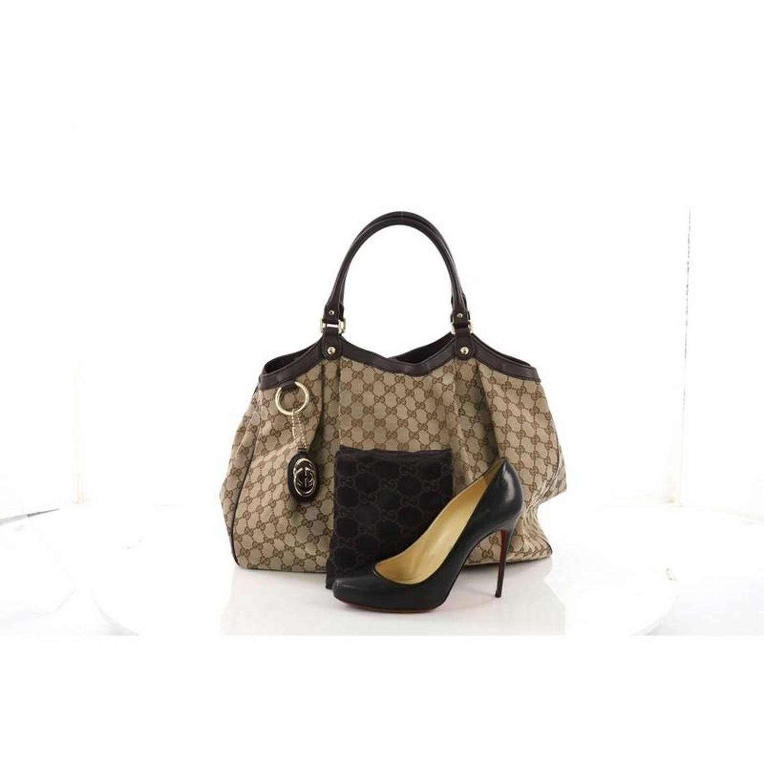 88dc82814a8 Gucci Sukey Tote GG Canvas Large at 1stdibs