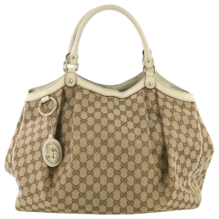 b1147f8d5 Gucci Sukey Tote GG Canvas Large For Sale at 1stdibs