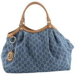 Gucci Sukey Tote GG Denim Large