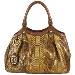 Gucci Sukey Tote Python Medium, crafted from genuine brown python