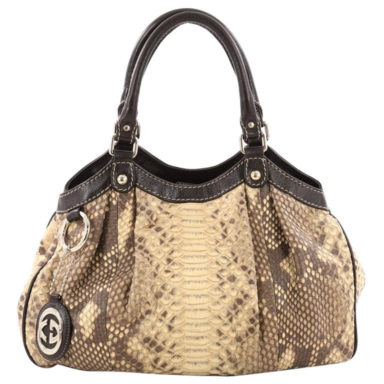 d0ef38c2a330 Gucci Sukey Tote Python Medium For Sale at 1stdibs