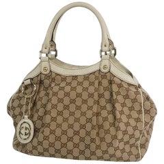 GUCCI Sukey Womens handbag 211944 beige x ivory