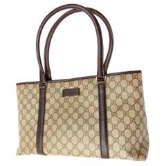 Gucci Supreme Gg Monogram Shopper 228812 Brown Coated Canvas Tote