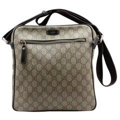 Gucci Supreme Monogram 232381 Brown Coated Canvas Cross Body Bag