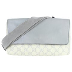 Gucci Supreme Slate Blue Fanny Pack Belt Waist Pouch 5gj0111 Grey Cross Body Bag