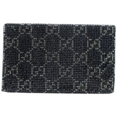 952f67bc02c1 Gucci Swarovski Crystal Guccissima 15gz0720 Black Satin X Rhinestones Clutch