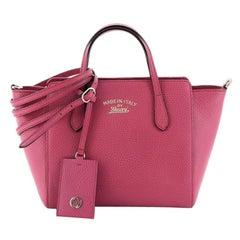 Gucci Swing Crossbody Bag Pebbled Leather Mini